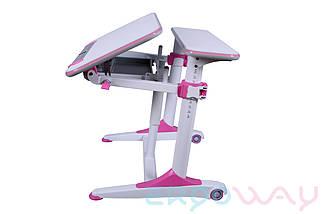 Комплект Детская парта растишка трансформер Ergoway T350L + кресло M350 Pink + ПОДАРКИ, фото 2