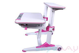 Комплект Детская парта растишка трансформер Ergoway T350L + кресло M350 Pink + ПОДАРКИ, фото 3