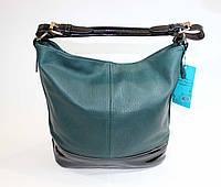 Женская сумочка на одну ручку зеленого цвета