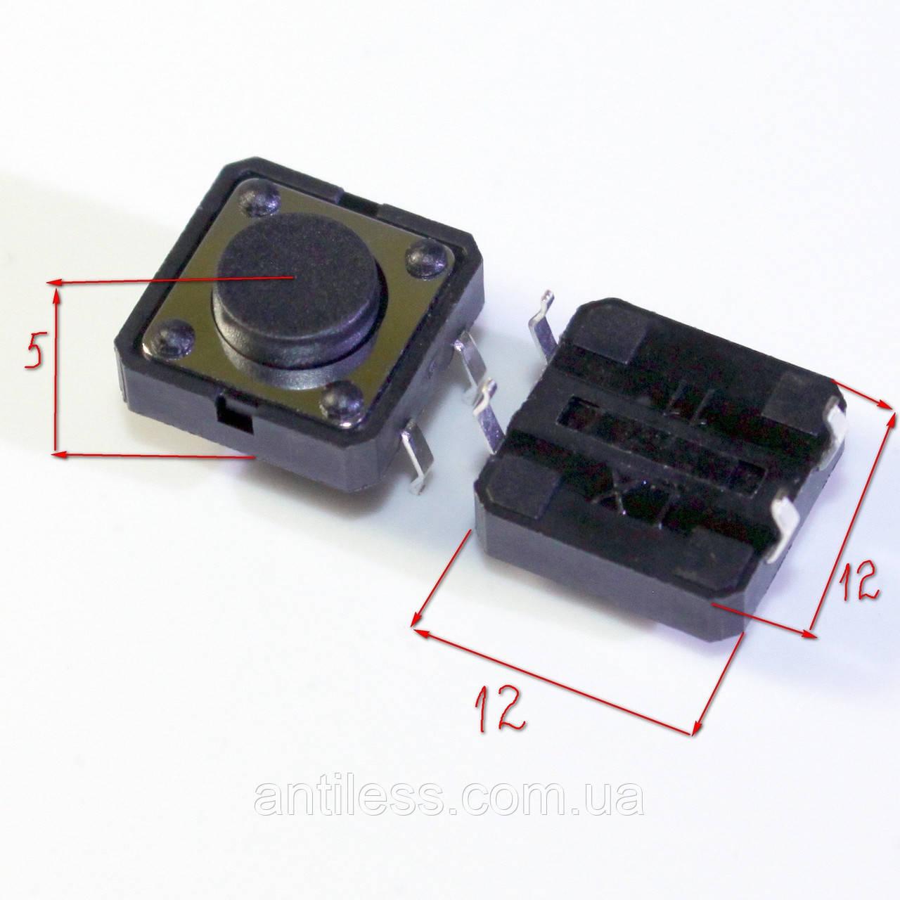 КНОПКА DIP 4 PIN 12*12*5 12x12x5 мм