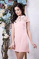 Модное розовое платье Нино ТМ Irena Richi 42-48 размеры
