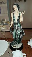 Статуэтка Леди с жемчугом Фарфор Италия Florence дизайнер Джузеппе Армани Ручная Работа 70 см