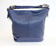 Женская сумочка на одну ручку синего цвета