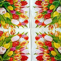 Салфетка декупажная 25x25см 1 Тюльпаны на счастье (товар при заказе от 500грн)