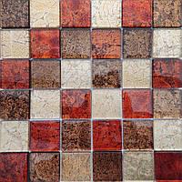 Мозаика стеклянная на подложке  Mix Red