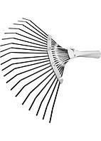 Грабли веерные 20 зубьев, без черенка, оксидированные, плоский зуб// СИБРТЕХ 61778