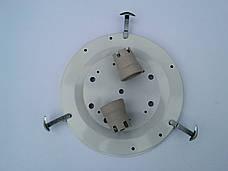 Светильник потолочный накладной диаметр 30 см  Мрамор Серебро  2х ламповый, фото 2