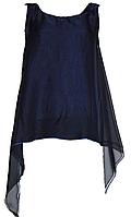 Нарядная темно-синяя майка с шифоновой накидкой. Англия