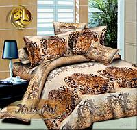 """Семейный комплект постельного белья от производителя """"Лео""""."""