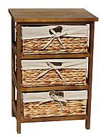 Комод Grace natural 3D деревянный с плетеными корзинками