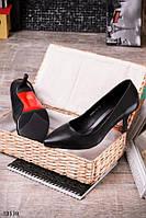 Женские туфли - лодочки черного цвета каблук 8-9 см