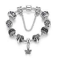 Женский браслет 0638 Пандора PANDORA с подвесками
