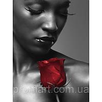 Фотокартина на холсте Мулатка с розой