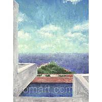 Фотокартина на холсте Морской пейзаж. Вид с балкона