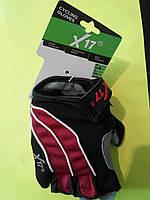 Перчатки X17 XGL-552RD гелевые красно-черные, фото 1
