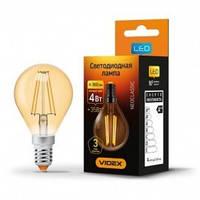 """Декоративная LED лампа """"filament"""" G45 4W E14 бронза 2200K"""