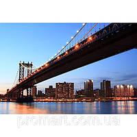 Фотокартина на холсте Манхэттен. Вечерний мост