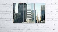 Модульная картина на холсте 3 в 1 Нью-Йорк 60х90 см