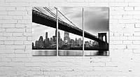Модульная картина на холсте 3 в 1 Мост 60х90 см