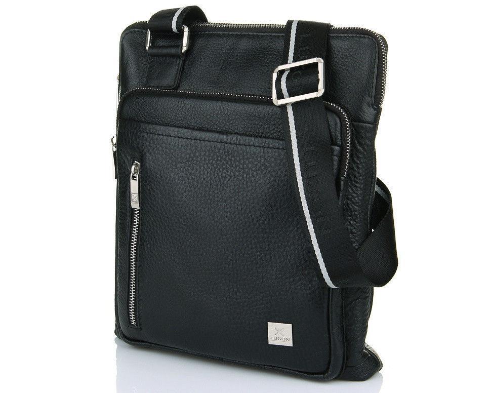 Тонкая кожаная мужская сумка Luxon 65121-3