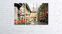 Модульная картина на холсте 3 в 1 Старый город, Берн, Швейцария 60х90 см, фото 1
