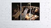 Модульная картина на холсте 3 в 1 Оружие охотника 60х90 см, фото 1