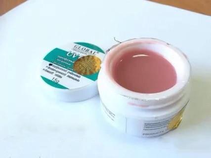 Гель Global UV Gel Yellowish Pink 14 мл, Цвет Камуфлирующий розовый