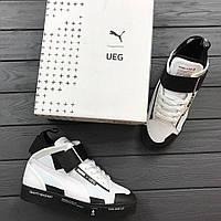 Мужские кроссовки Puma Court Play SlipON x UEG High белые с черным