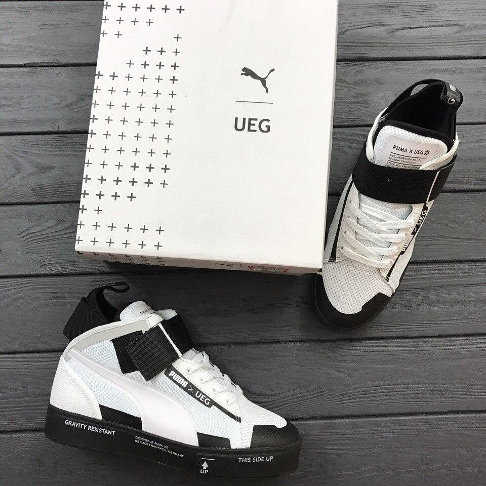 7ede923b40e410 Мужские кроссовки Puma Court Play SlipON x UEG High топ реплика -  Интернет-магазин обуви