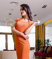 Вечернее платье-миди с открытыми плечами