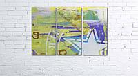 Модульная картина на холсте 3 в 1 ARMY 60х90 см, фото 1