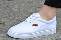 Кеды женские белые типа Vans ванс практичные, удобные