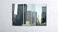 Модульная картина на холсте 3 в 1 Нью-Йорк 80х120 см