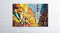 Модульная картина на холсте 3 в 1 Каир, Египет, рынок. 80х120 см