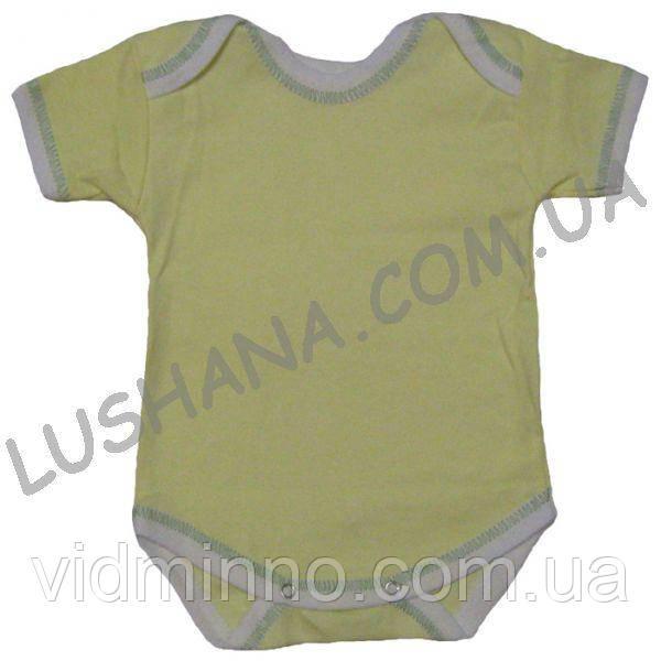 Бодик - футболка Лодочки на рост 68-74 см - Интерлок