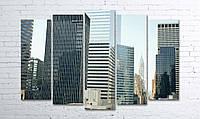 Модульная картина на холсте 5 в 1 Нью-Йорк 100х150 см (секции разного размера)