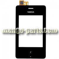 Тачскрин/Сенсор Nokia 500 Asha черный с передней панелью high copy