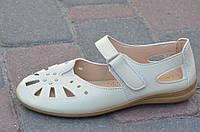 Босоножки, туфли женские летние светлый беж мягкие, удобные
