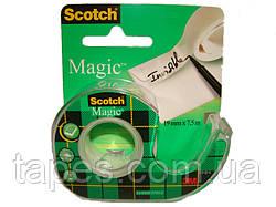 Невидимая клейкая лента 3М Scotch Magic на мини-диспенсере, 19мм х 7,5 м