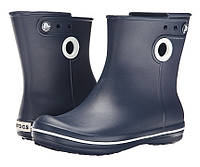 Сапоги Crocs Women's Jaunt Shorty Boot / женские резиновые дождевики короткие полусапоги с кружочком Резиновые сапоги, 39, Синий