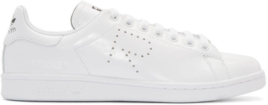 Кроссовки мужские в стиле Adidas X Raf Simons Stan Smith Aged White, ... 6014f434039
