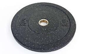 Бамперные диски для кроссфита Bumper Plates из структурной резины d-51мм RAGGY  5 кг Z