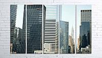 Модульная картина на холсте 5 в 1 Нью-Йорк 100х150 см