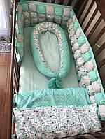 Комплект постельного белья в детскую кроватку, фото 1