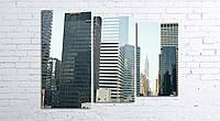 Модульная картина на холсте 3 в 1 Нью-Йорк 80х106 см (секции разного размера)