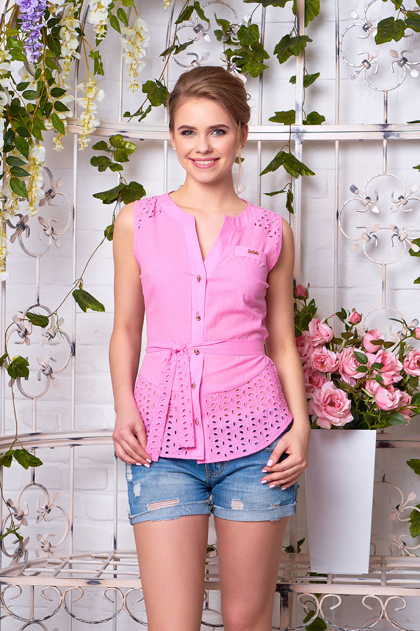 """Блуза """"Черри"""" (розовый)"""