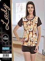 Милая женская пижама. Мишки. Турция. 7222