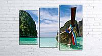 Модульная картина на холсте 3 в 1 Тайланд. Phi Phi острова 80х106 см