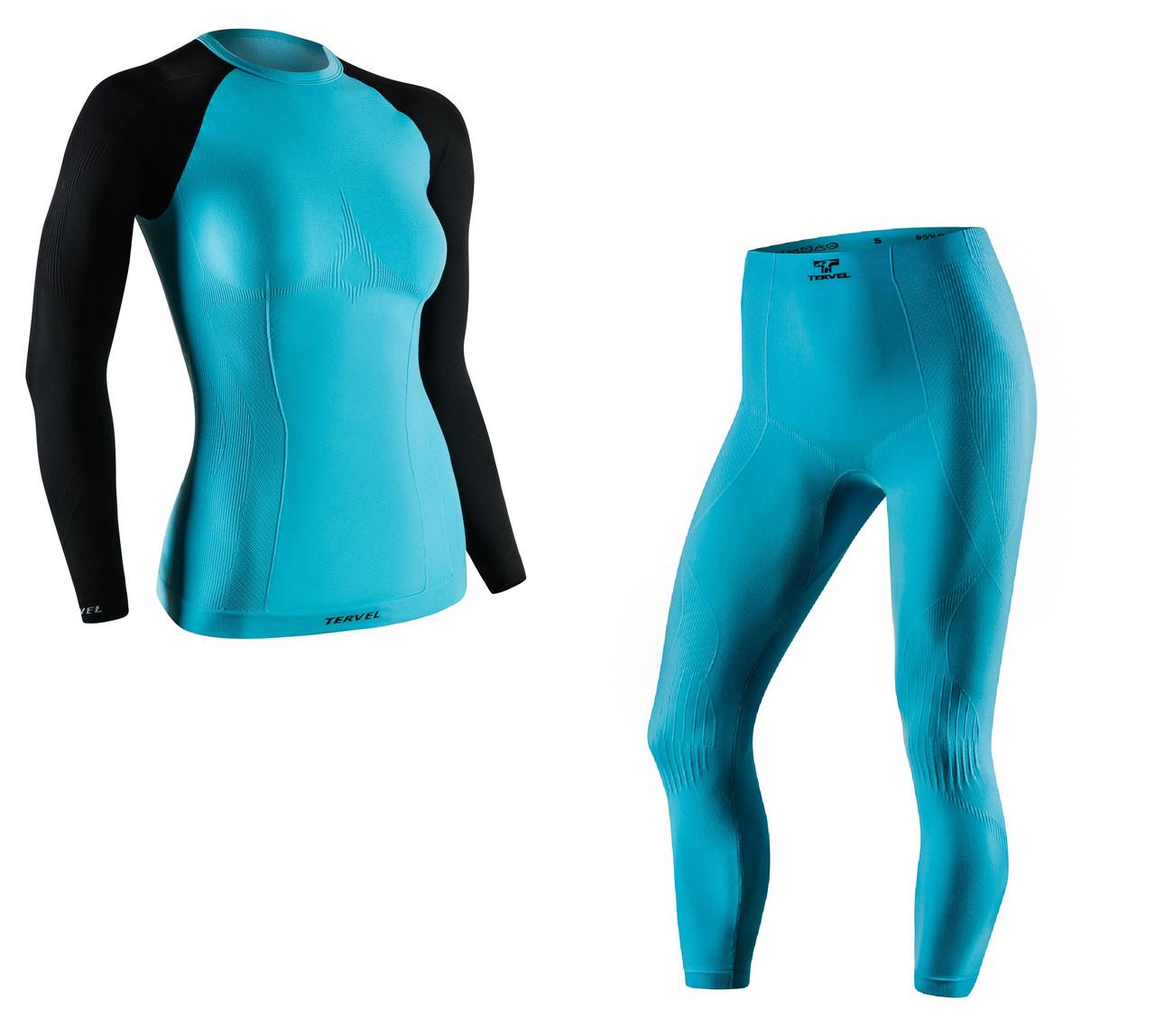 Термобелье женское спортивное Tervel Comfortline (original), комплект, зональное, бесшовное SportLavka