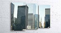 Модульная картина на холсте 3 в 1 Нью-Йорк 100х130 см (секции разного размера)